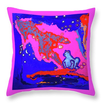 Supper On The Patio  Throw Pillow