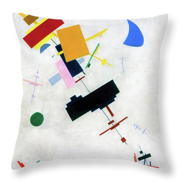 Suprematism 1915 - Digital Remastered Edition Throw Pillow