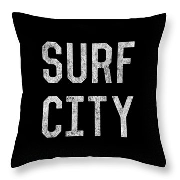Throw Pillow featuring the digital art Surf City by Flippin Sweet Gear