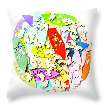 Surf Globe Trotters  Throw Pillow