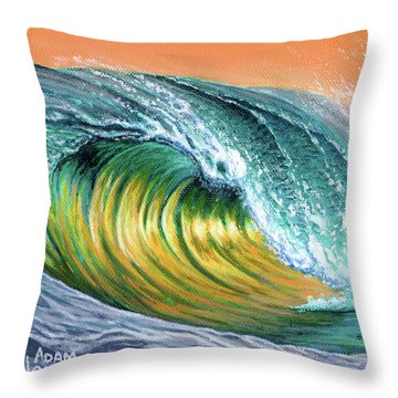Surf Into The Sunset Throw Pillow