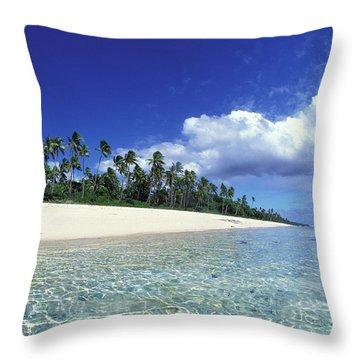 Surfer Girl In Tonga Throw Pillow