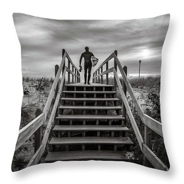 Throw Pillow featuring the photograph Surfer by Steve Stanger