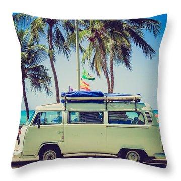 Surfer Van Throw Pillow