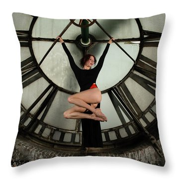 Throw Pillow featuring the photograph Suspended Time by Dennis Dame