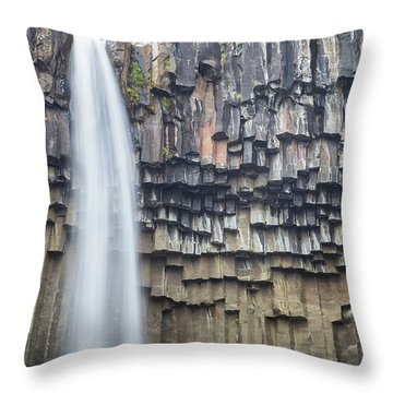 Throw Pillow featuring the photograph Svartifoss Portrait Iceland by Nathan Bush