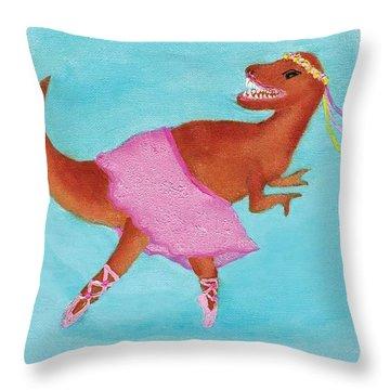 Swan Rex Throw Pillow