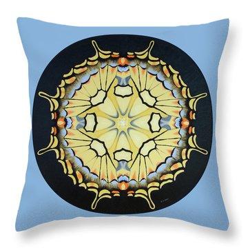Swallowtail Mandala Throw Pillow