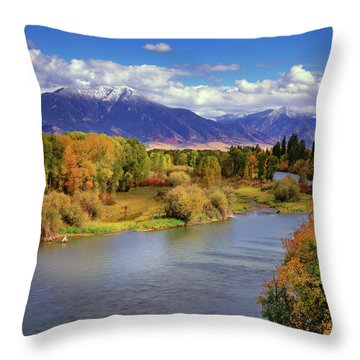 Swan Valley Autumn Throw Pillow