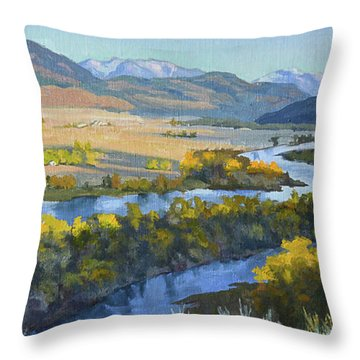 Swan Valley Throw Pillow