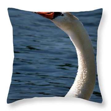 Throw Pillow featuring the photograph Swan's Neck by Onyonet  Photo Studios