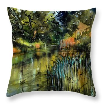 Sweet Flag In The Lake Throw Pillow