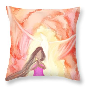 Sweet Hour Of Prayer Throw Pillow