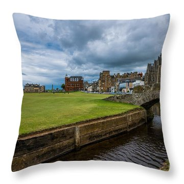 Swilcan Burn - The Old Course  Throw Pillow
