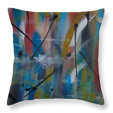 Swimming Thoughts Throw Pillow