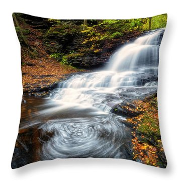 Throw Pillow featuring the photograph Swirls by Russell Pugh