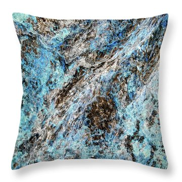 Symphony Of Blues Abstract Art Throw Pillow