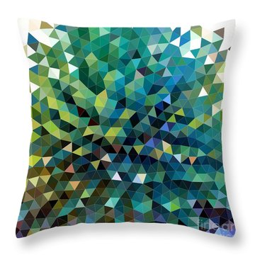 Synchronicity Of Color Throw Pillow