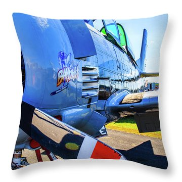 T-28b Trojan Banshee  Throw Pillow