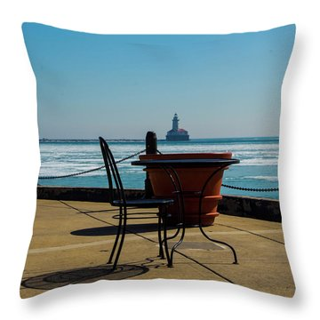 Table For One Throw Pillow