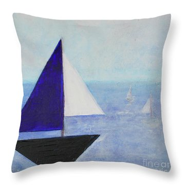 Throw Pillow featuring the painting Tactical by Kim Nelson