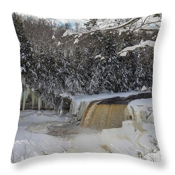 Tahquamenon Falls Throw Pillow