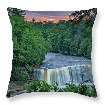 Tahquamenon Falls Sunset. Throw Pillow