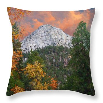 Tahquitz Peak - Lily Rock Painted Version Throw Pillow