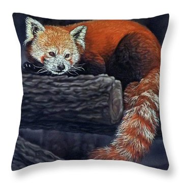 Takeo, The Red Panda Throw Pillow