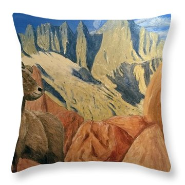 Throw Pillow featuring the painting Taking In The Morning by Kevin Daly