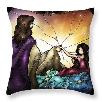 Talitha Koum Throw Pillow