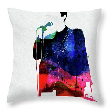 Talking Heads Watercolor Throw Pillow