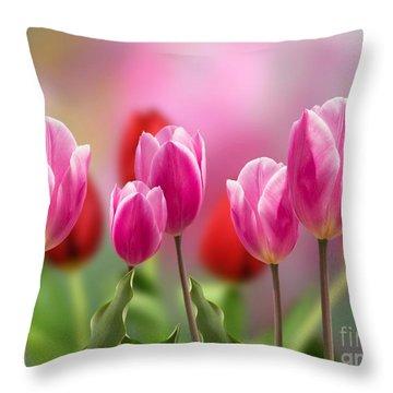 Tall Tulips Throw Pillow