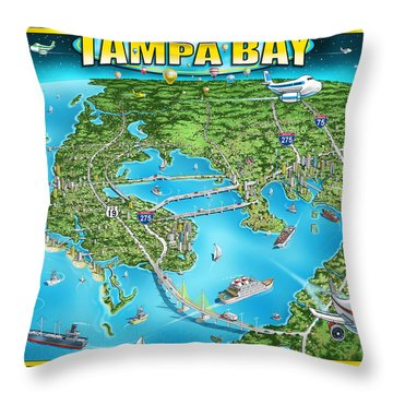 Tampa Bay 2019 Throw Pillow