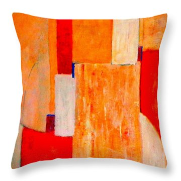 Tangerines Abstract Throw Pillow