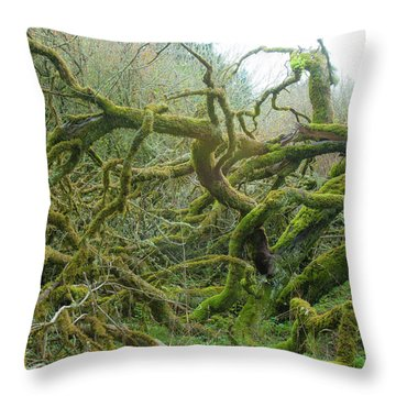 Throw Pillow featuring the photograph Tangled Moss by Mark Duehmig