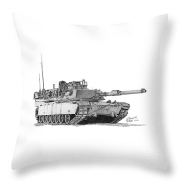 Throw Pillow featuring the painting Tank by Betsy Hackett