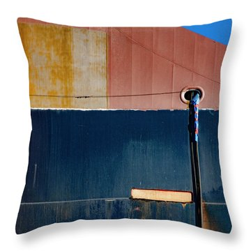 Tanker In Dry Dock Throw Pillow