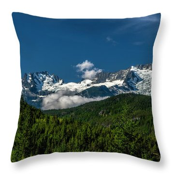 Throw Pillow featuring the photograph Tantalus Mountain Range by Jon Burch Photography
