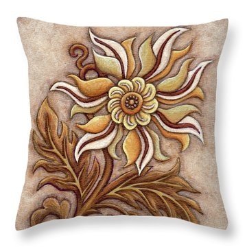 Tapestry Flower 1 Throw Pillow
