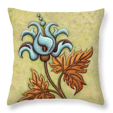 Tapestry Flower 2 Throw Pillow