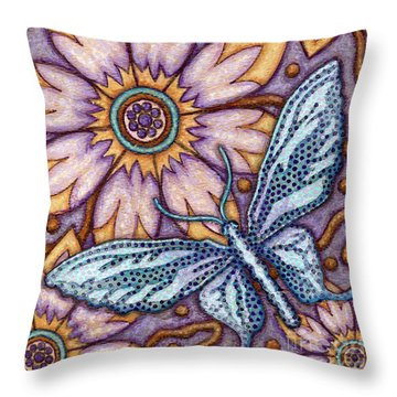 Tapestry Butterfly Throw Pillow