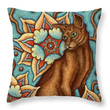 Tapestry Cat Throw Pillow