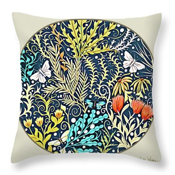Tapestry Design Button Throw Pillow