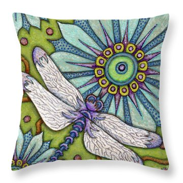 Tapestry Dragonfly Throw Pillow