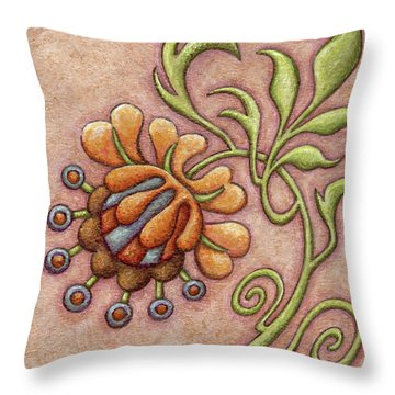 Tapestry Flower 10 Throw Pillow