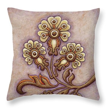 Tapestry Flower 4 Throw Pillow