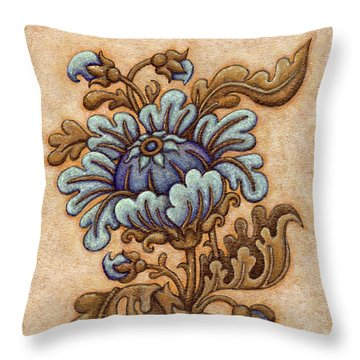 Tapestry Flower 5 Throw Pillow