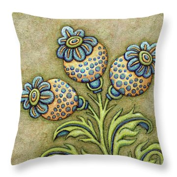 Tapestry Flower 6 Throw Pillow