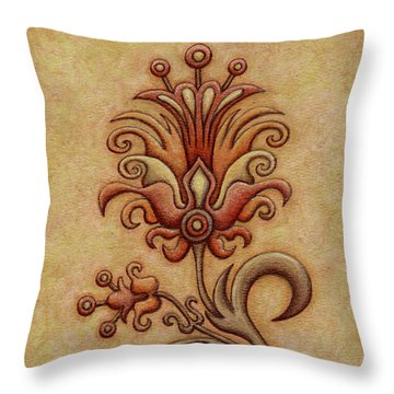 Tapestry Flower 7 Throw Pillow